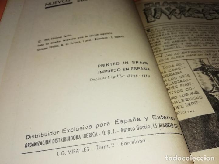 Cómics: GLADIADORES INVICTOS. SELECCIONES VERTICE. 59. VERTICE TACO. 1969. BUEN ESTADO. - Foto 5 - 155823950