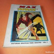 Cómics: MAX AUDAZ. VOLUMEN 4. EDICION ESPECIAL. VERTICE. TACO, 1974. BUEN ESTADO.. Lote 155825354