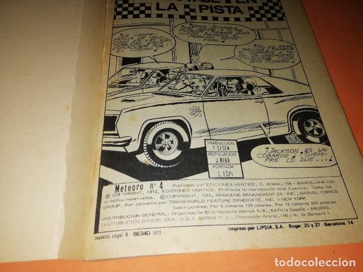 Cómics: METEORO. SABOTAJE EN LA PISTA.Nº 4. VERTICE. TACO. BUEN ESTADO. 1972. - Foto 7 - 155843718
