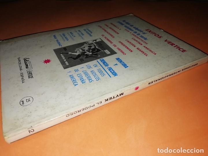 Cómics: MYTEK EL PODEROSO. Nº 12. LA HORRENDA SOMBRA DE MYTEX. VERTICE. TACO. BUEN ESTADO. 1970. - Foto 3 - 155847154