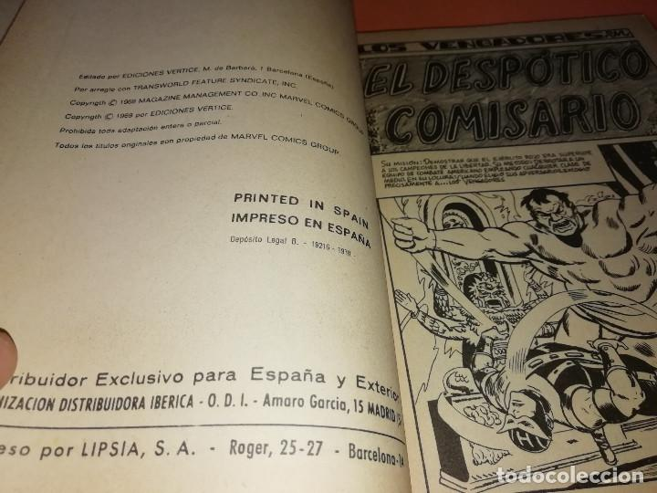 Cómics: LOS VENGADORES. EL DESPOTICO COMISARIO. Nº 8 VERTICE TACO. 1970. BUEN ESTADO. - Foto 6 - 156051770