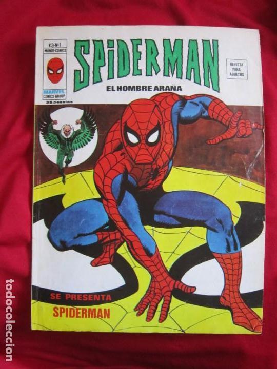 SPIDERMAN VOL. 3 COLECCION COMPLETA 76 COMICS VERTICE AÑOS 70 BASTANTE BUENOS (Tebeos y Comics - Vértice - V.3)