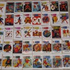 Comics : HOMBRE DE HIERRO (IRON MAN): TARJETAS, PORTADAS ILUSTRADAS POR LOPEZ ESPI PARA VERTICE. 9,5X6 CM.. Lote 156667650