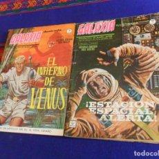 Cómics: VÉRTICE GRAPA BITONO GALAXIA Nº 1 ESTACIÓN ESPACIAL ALERTA Y 3 EL INFIERNO DE VENUS. 10 PTS. 1965.. Lote 156808538