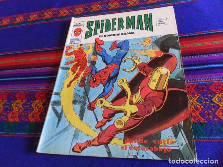 VÉRTICE VOL. 3 SPIDERMAN Nº 11, DONDE VUELA EL ESCARABAJO. 1976. 35 PTS. BUEN ESTADO. (Tebeos y Comics - Vértice - V.3)