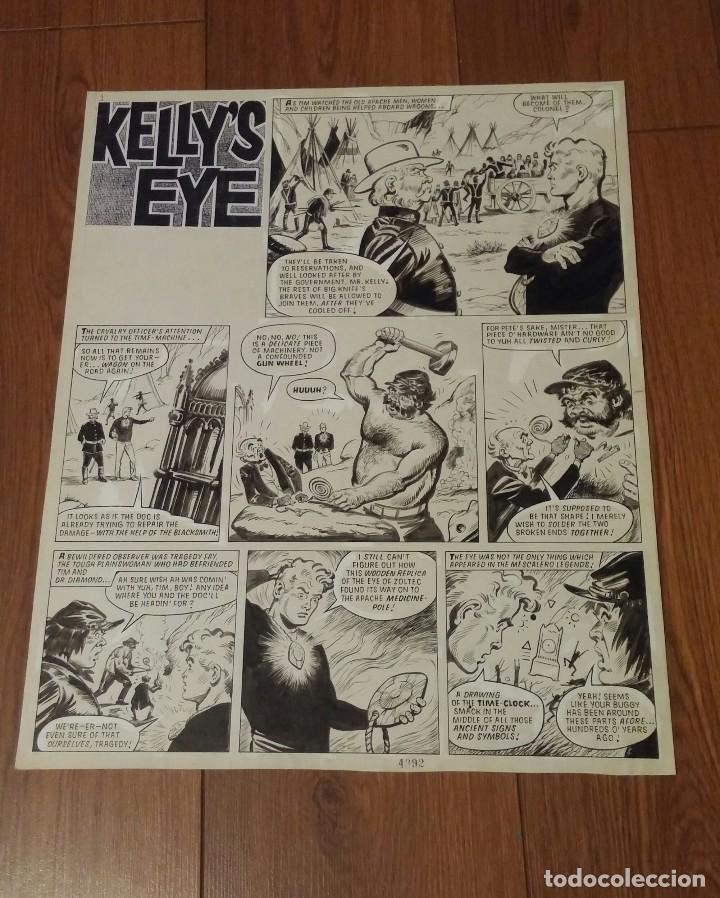 DIBUJO ORIGINAL KELLY OJO MAGICO DEL DIBUJANTE FRANCISCO SOLANO VERTICE (Tebeos y Comics - Vértice - Fleetway)