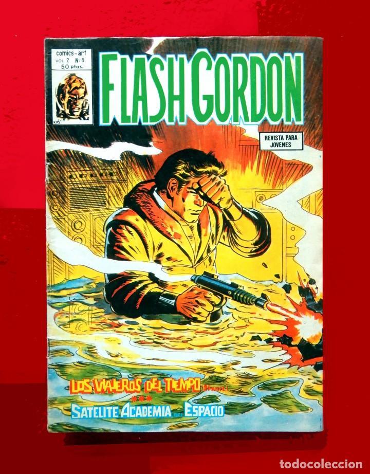 FLASH GORDON, VOL. 2 - Nº 8, LOS VIAJEROS DEL TIEMPO 2-COMICS-ART / EDIT. VÉRTICE, 1979. ORIGINAL (Tebeos y Comics - Vértice - Flash Gordon)