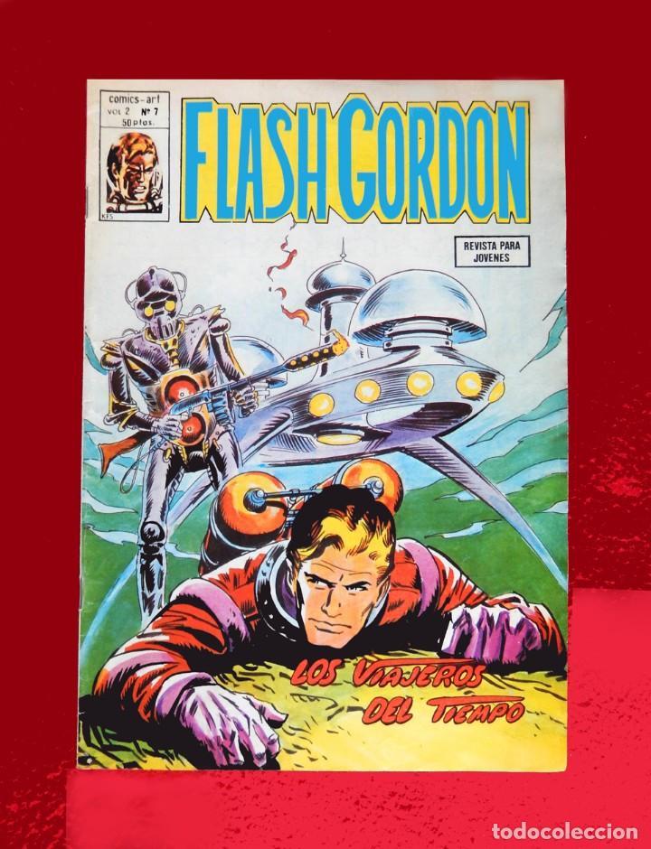 FLASH GORDON, VOL. 2 - Nº 7, LOS VIAJEROS DEL TIEMPO-COMICS-ART / EDICIONES VÉRTICE, 1979. ORIGINAL (Tebeos y Comics - Vértice - Flash Gordon)