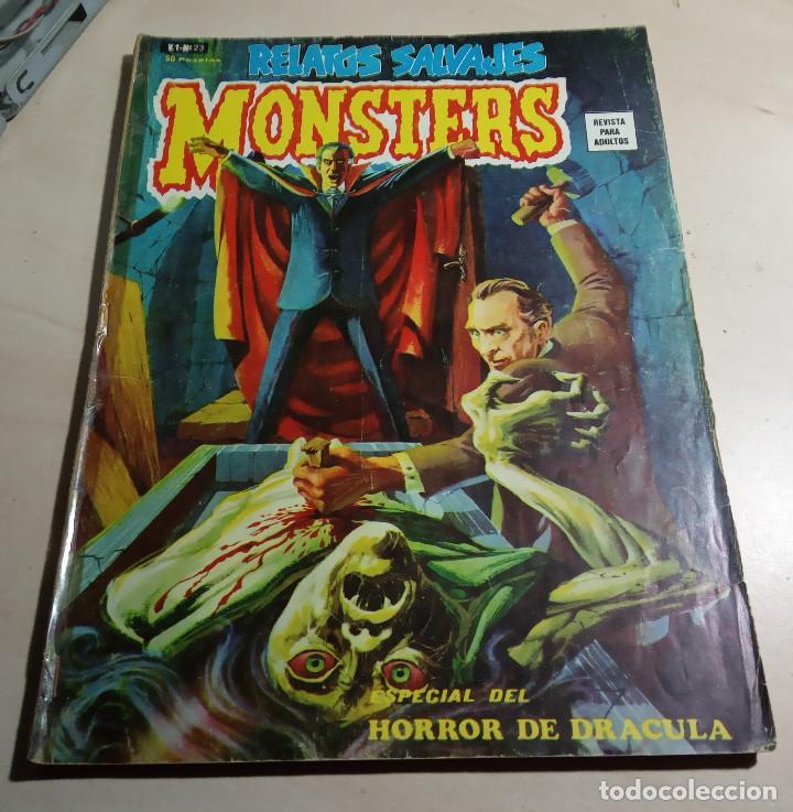 RELATOS SALVAJES MONSTERS VOL.1 Nº 23.ESPECIAL HORROR DE DRACULA.VÉRTICE.1974. (Tebeos y Comics - Vértice - Relatos Salvajes)