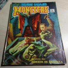 Cómics: RELATOS SALVAJES MONSTERS VOL.1 Nº 23.ESPECIAL HORROR DE DRACULA.VÉRTICE.1974.. Lote 159752766