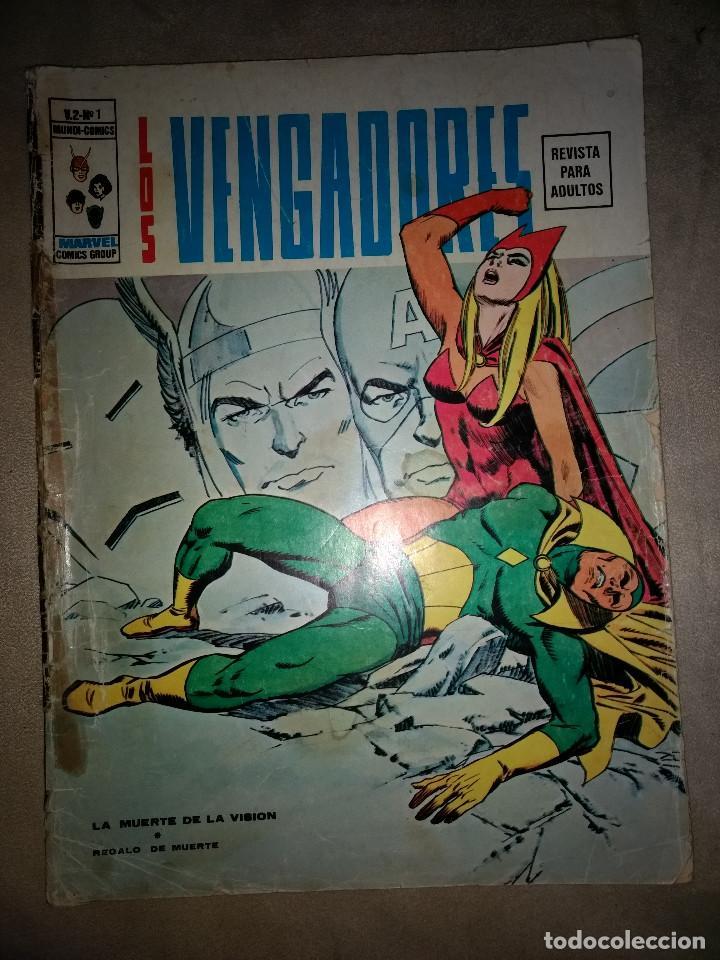 VISION Y BRUJA ESCARLATA -LOS VENGADORES VOL 2. Nº 1. VERTICE MUY DIFICIL AÑOS 70 (Tebeos y Comics - Vértice - Otros)
