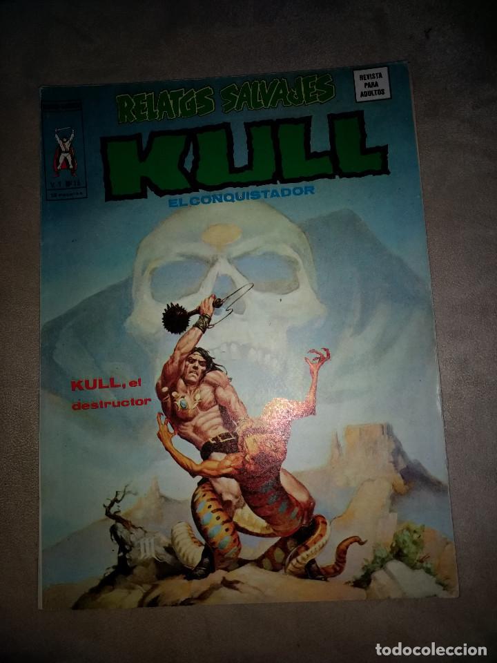 RELATOS SALVAJES KULL VOL 1. Nº 16 VERTICE MUY DIFICIL AÑOS 70 (Tebeos y Comics - Vértice - Otros)