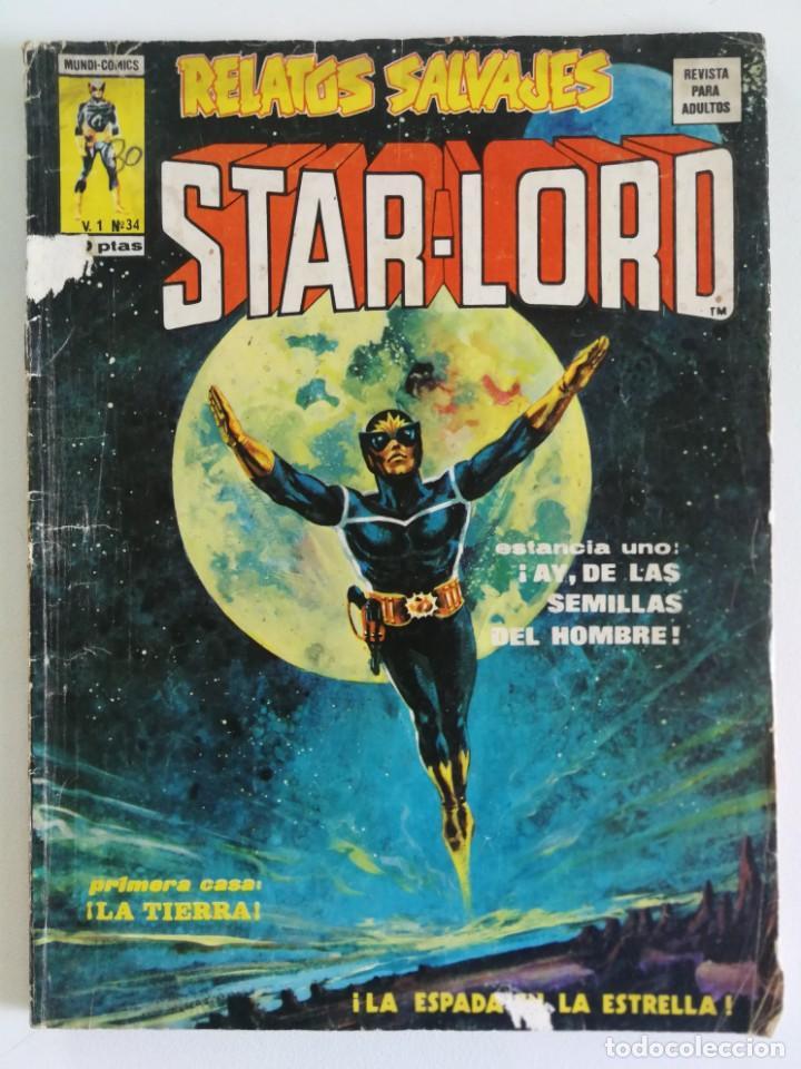 STARLORD (RELATOS SALVAJES) VOL.1 Nº 34 - VÉRTICE 1976 (Tebeos y Comics - Vértice - Relatos Salvajes)