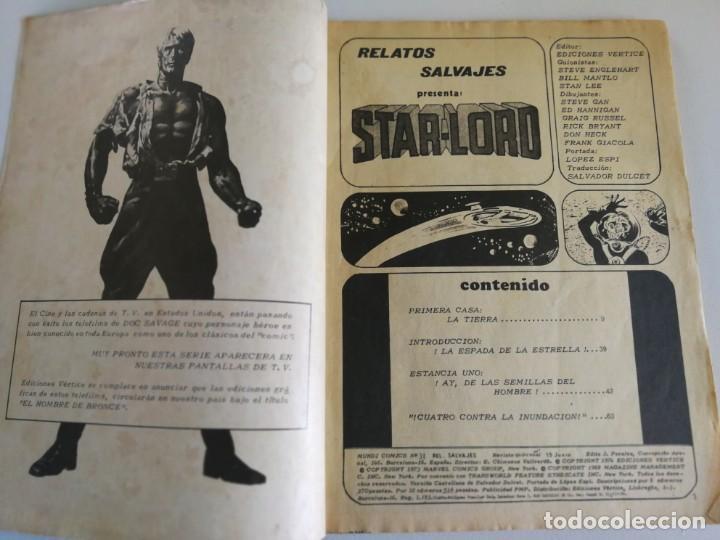 Cómics: STARLORD (RELATOS SALVAJES) VOL.1 Nº 34 - VÉRTICE 1976 - Foto 3 - 160508458