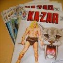 Cómics: KA-ZAR, COLECCIÓN COMPLETA 9 NÚMEROS, ED. VERTICE, KAZAR, ERCOM 1V. Lote 160895858