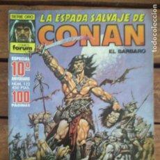 Cómics: LA ESPADA SALVAJE DE CONAN. 2ª EDIC. Nº 122 ESPECIAL 10º ANIV. 100PAG.. Lote 161025662