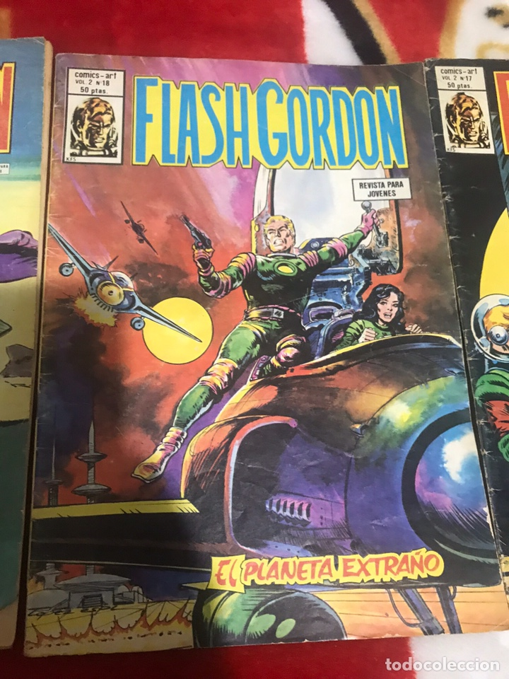 Cómics: Lote de tres cómics Flash Gordon Volumen 2 números 17-18-19 - Foto 3 - 161497884