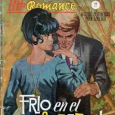 Cómics: HIT-ROMANCE Nº 15. FRÍO EN EL CORAZÓN. Lote 161845002