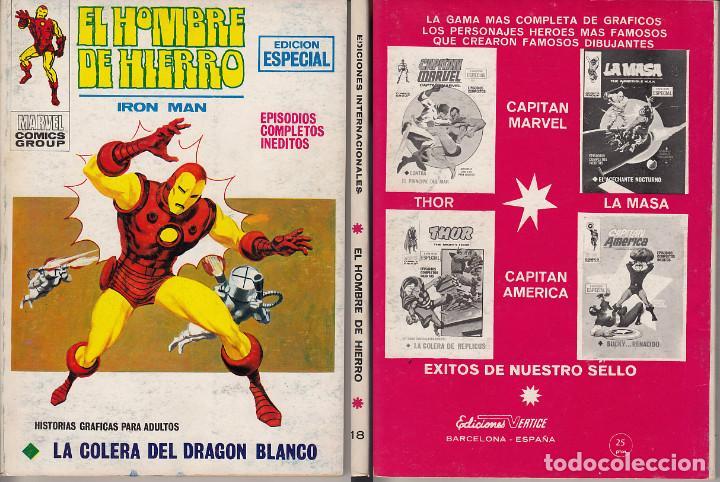 VERTICE V1 EL HOMBRE DE HIERRO 18 (Tebeos y Comics - Vértice - Hombre de Hierro)