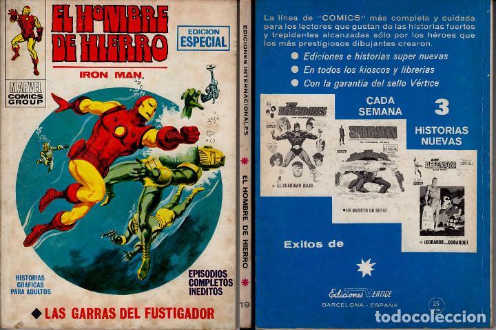 VERTICE V1 EL HOMBRE DE HIERRO 19 (Tebeos y Comics - Vértice - Hombre de Hierro)