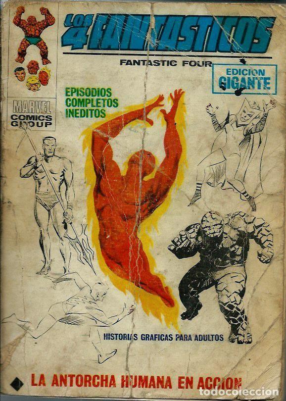 LOS 4 FANTASTICOS - EDICION GIGANTE Nº 2 - LA ANTORCHA HUMANA EN ACCION - VERTICE V.1 - SUFRIDO (Tebeos y Comics - Vértice - V.1)