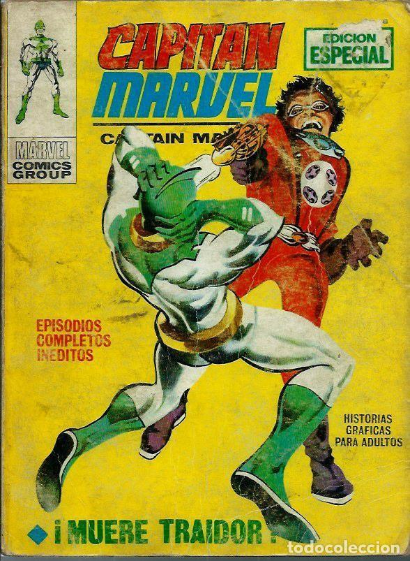 CAPITAN MARVEL Nº 4 - ¡ MUERE TRAIDOR ! - VERTICE V.1 AÑOS 70 - VER DESCRIPCION (Tebeos y Comics - Vértice - V.1)