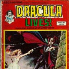 Cómics: ESCALOFRIO Nº 43 - DRACULA LIVES Nº 12 - PERGAMINOS DEL MALDITO - VERTICE - MUY MUY DIFICIL. Lote 162296910