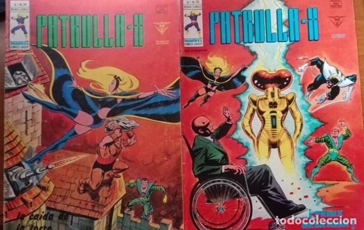 PATRULLA X (X MEN) MUNDICOMICS VÉRTICE V3 NºS 24 Y 25 AÑO 1.974 (Tebeos y Comics - Vértice - Surco / Mundi-Comic)