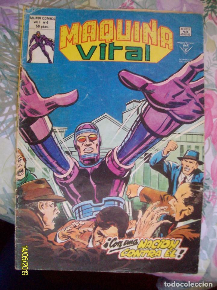 MAQUINA VITAL Nº 4 VERTICE EL HOMBRE MAQUINA (Tebeos y Comics - Vértice - V.1)