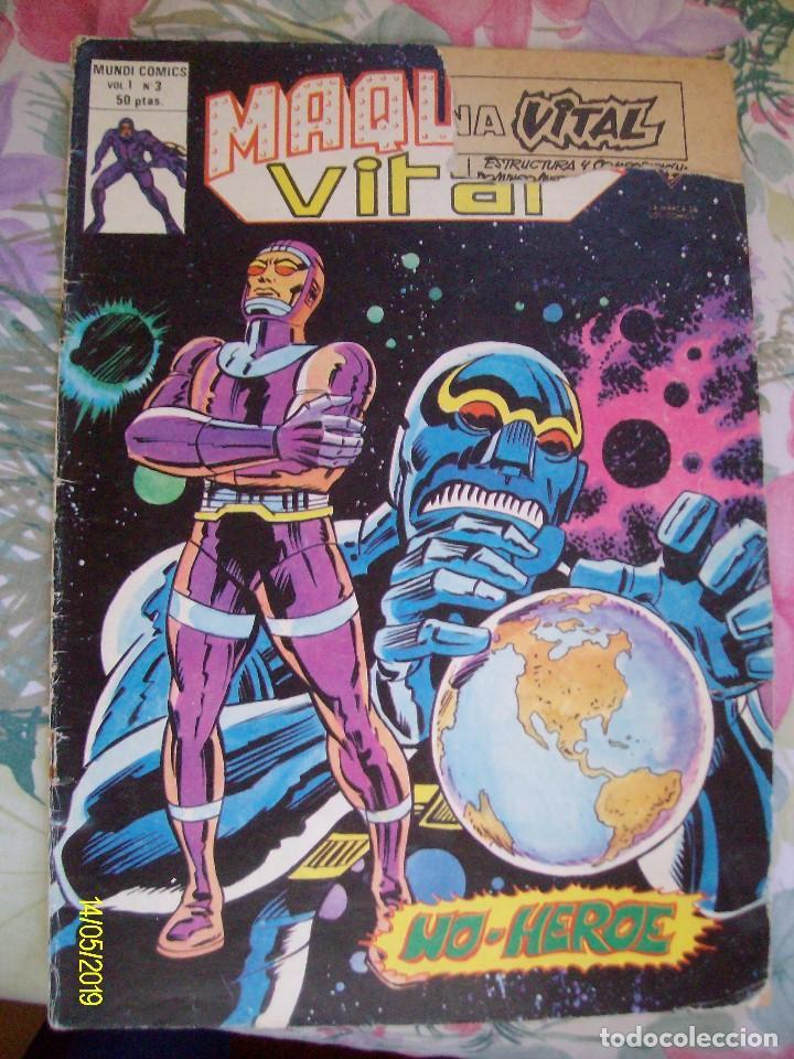 MAQUINA VITAL Nº 3 VERTICE EL HOMBRE MAQUINA (Tebeos y Comics - Vértice - V.1)
