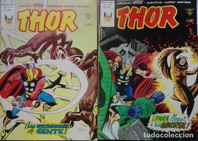 THOR MUNDICOMICS VÉRTICE VOL 2 NºS 49 Y 50 AÑO 1.980, MARVEL 1.978 (Tebeos y Comics - Vértice - Thor)