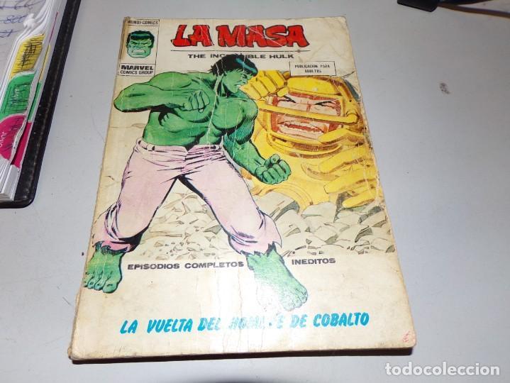 LA MASA LA VUELTA DEL HOMBRE DE COBALTO NUMERO 35 (Tebeos y Comics - Vértice - La Masa)