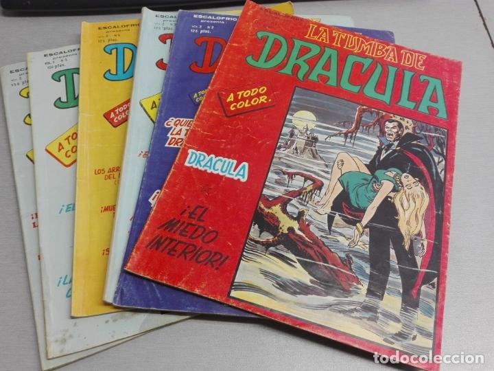 ESCALOFRÍO PRESENTA: LA TUMBA DE DRÁCULA VOL. 2 / LOTE CON LOS NÚMEROS: 1, 2, 3, 4, 5, 7 / VÉRTICE (Tebeos y Comics - Vértice - Otros)