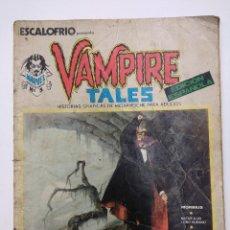 Cómics: VAMPIRE TALES Nº1/ESCALOFRIO/VERTICE.. Lote 165726518