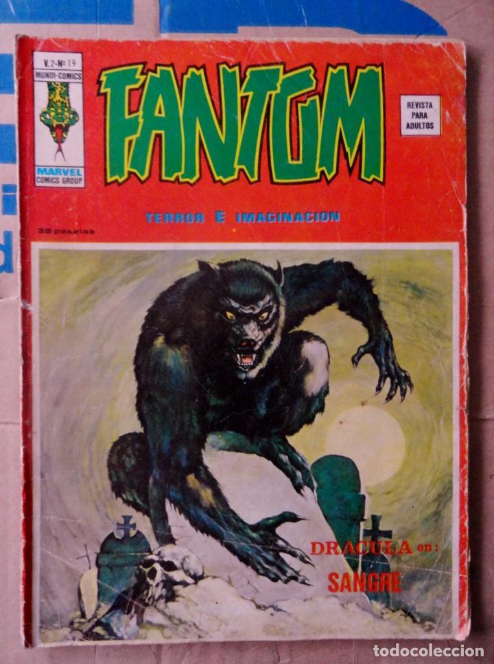 FANTOM VOL 2 VÉRTICE NÚMERO 19. 1975.35 PTS ¡TERROR E IMAGINACIÓN ! (Tebeos y Comics - Vértice - Otros)