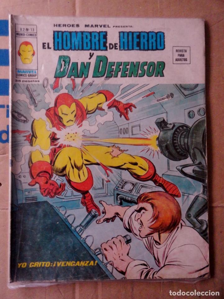 HÉROES MARVEL VOL 2 VÉRTICE NÚMERO 13. 1976, 35 PTS EL HOMBRE DE HIERRO Y EL DAN DEFENSOR (Tebeos y Comics - Vértice - Otros)