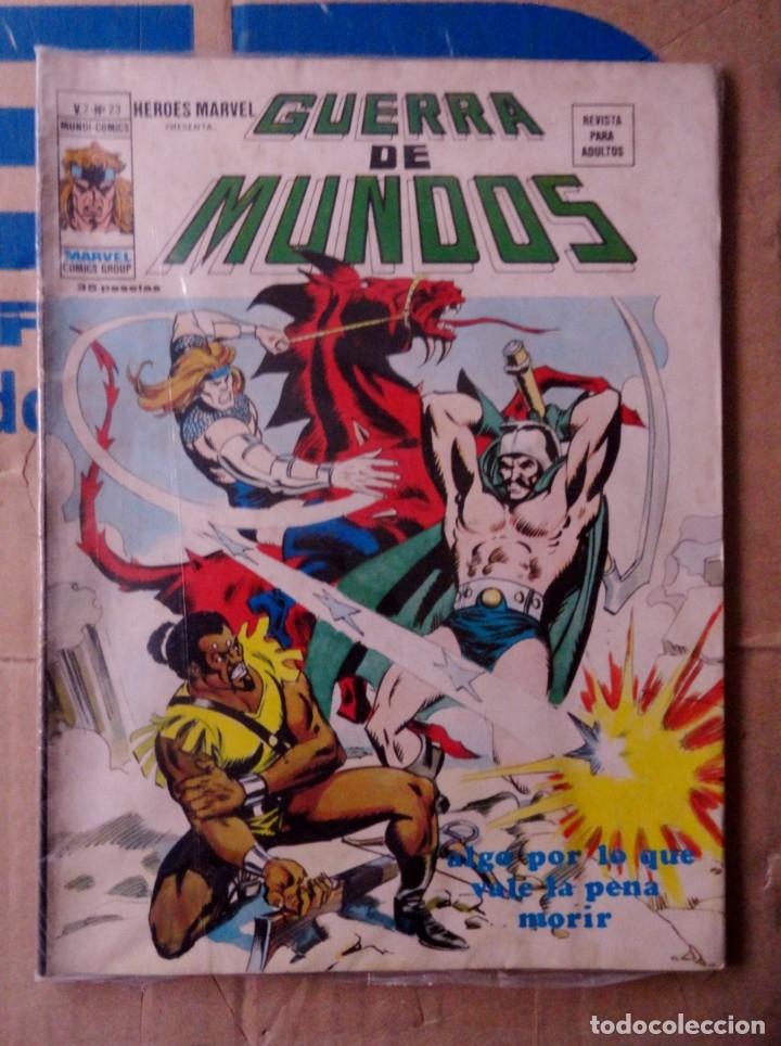 HÉROES MARVEL VOL 2 VÉRTICE NÚMERO 23. 1976, 35 PTS GUERRA DE MUNDOS (Tebeos y Comics - Vértice - Otros)