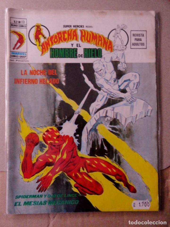 SUPER HÉROES VOL 2 VÉRTICE NÚMERO 12 ANTORCHA HUMANA Y EL HOMBRE DE HIERRO AÑO 1975 (Tebeos y Comics - Vértice - Super Héroes)