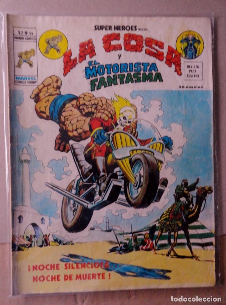SUPER HEROES VOL 2 VÉRTICE NÚMERO 44. LA COSA Y EL MOTORISTA FANTASMA .AÑO 1976 (Tebeos y Comics - Vértice - Super Héroes)