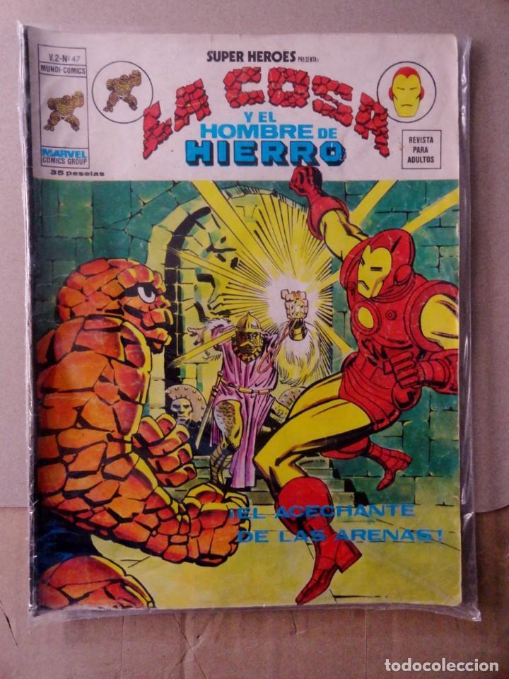SUPER HEROES VOL 2 VÉRTICE NÚMERO 47. LA COSA Y EL HOMBRE DE HIERRO .AÑO 1976 (Tebeos y Comics - Vértice - Super Héroes)