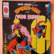 Cómics: SUPER HEROES VOL 2 VÉRTICE NÚMERO 91 SPIDER-MAN Y EL CAPITÁN BRITANIA .AÑO 1978. Lote 167977236