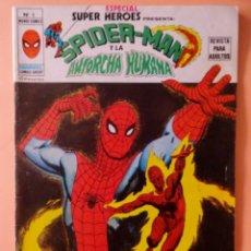 Cómics: ESPECIAL SUPER HEROES VOL 1 VÉRTICE NÚMERO 6 SPIDER-MAN Y LA ANTORCHA HUMANA .AÑO 1980. Lote 167978944