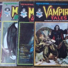 Cómics: ESCALOFRIO Nº 10, 12, 16 Y 35 (VERTICE 1974/75) VAMPIRE TALES Nº 2 Y 9 + MONSTERS UNLEASHED Nº 4 Y 5. Lote 168046280
