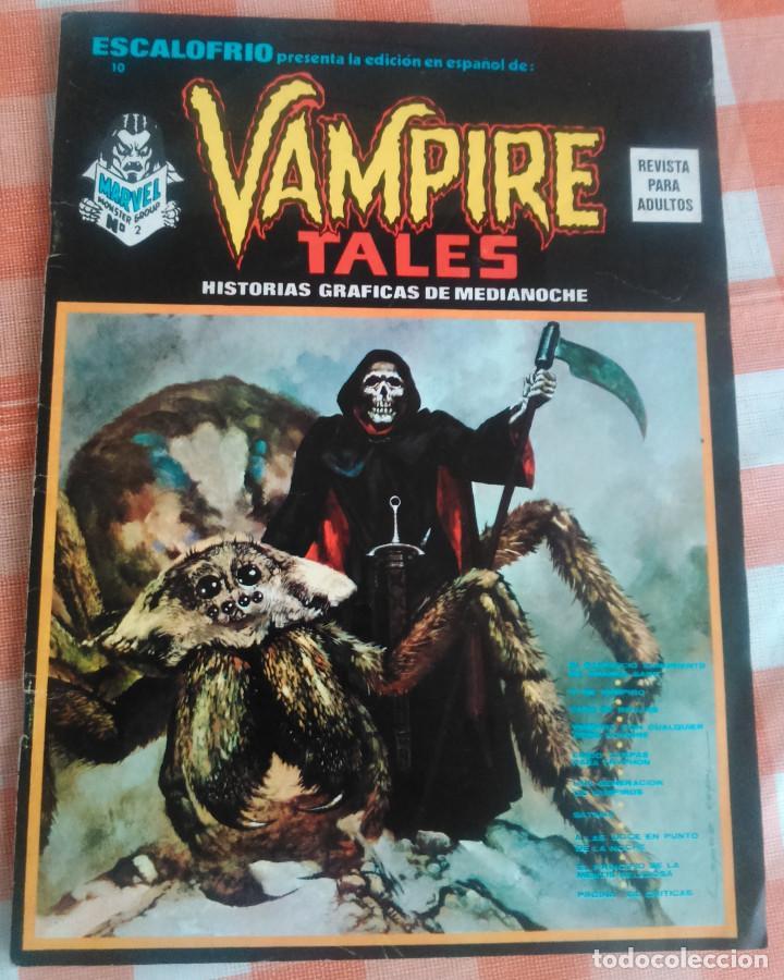 Cómics: ESCALOFRIO nº 10, 12, 16 y 35 (Vertice 1974/75) Vampire Tales nº 2 y 9 + Monsters Unleashed nº 4 y 5 - Foto 2 - 168046280