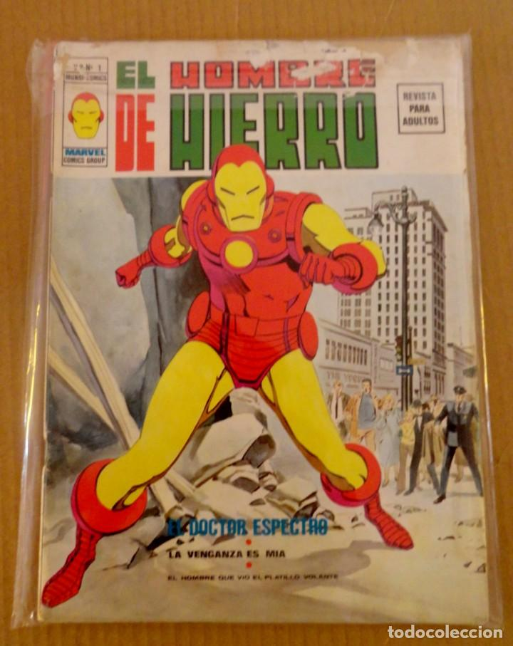 EL HOMBRE DE HIERRO VOL 1 NÚMERO 1 AÑO 1974, 30 PTS , EL DOCTOR ESPECTRO (Tebeos y Comics - Vértice - Hombre de Hierro)