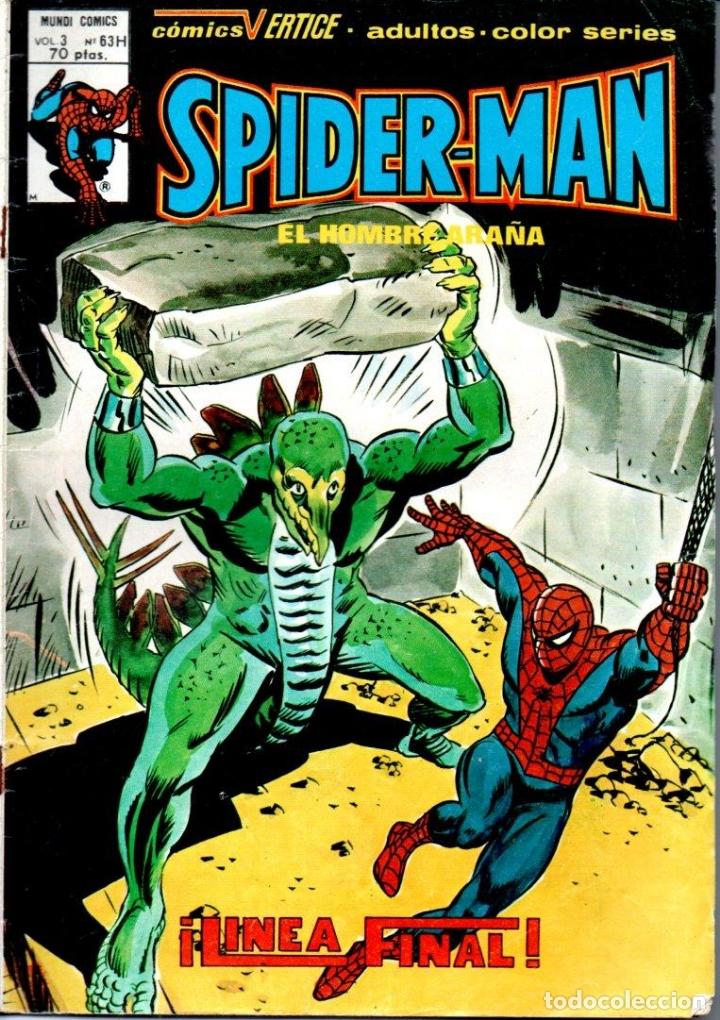 SPIDER MAN LINEA FINAL - MUNDI COMICS VÉRTICE VOL. 3 Nº 63H (1980) (Tebeos y Comics - Vértice - Super Héroes)