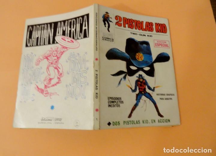 Cómics: 2 PISTOLAS KID VOL 1 VÉRTICE NÚMERO 1, AÑO 1971(DOS PISTOLAS KID EN ACCIÓN) - Foto 4 - 168372036