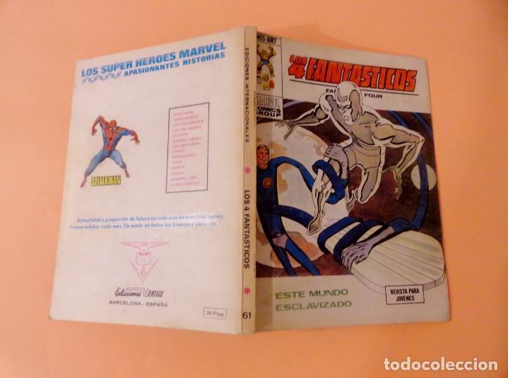 Cómics: LOS 4 FANTÁSTICOS VOL 1 VÉRTICE NÚMERO 61, AÑO 1974 (ESTE MUNDO ESCLAVIZADO) - Foto 3 - 168374164