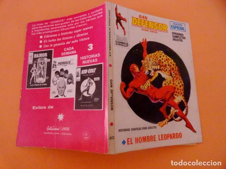 Cómics: DAN DEFENSOR VOL 1 VÉRTICE NÚMERO 30, AÑO 1972 (EL HOMBRE LEOPARDO ) - Foto 4 - 168386600