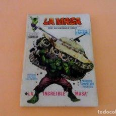 Cómics: LA MASA VOL1 VÉRTICE NÚMERO 1, AÑO 1970 (LA INCREÍBLE MASA ). Lote 168392684